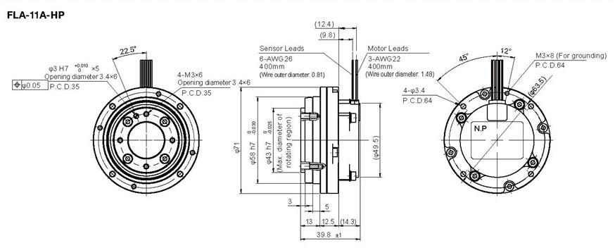 FLA Ultra-Flat Rotary Actuator   Harmonic Drive